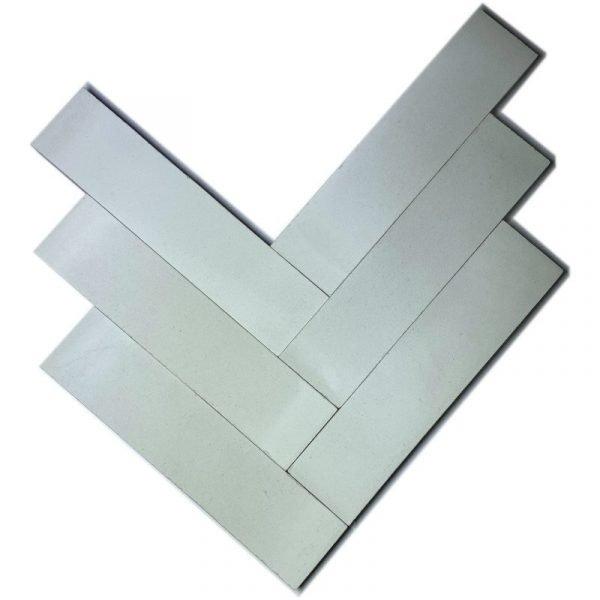 Moroccan Encaustic Cement White 5cm x 20cm