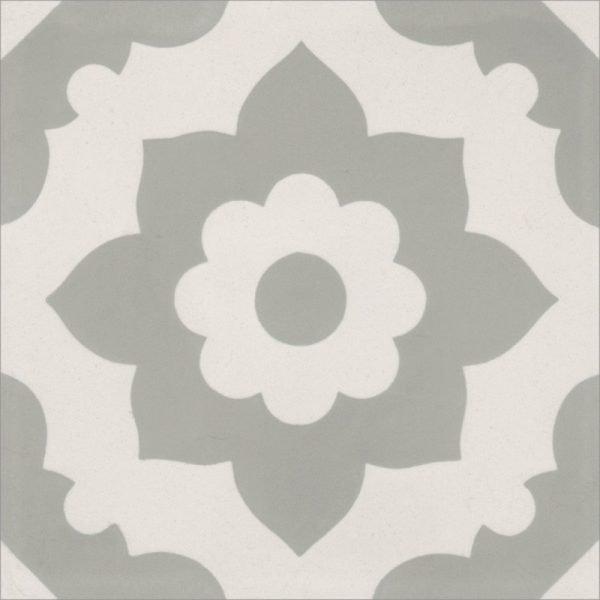 Moroccan Encaustic Cement 04b Floral Grey