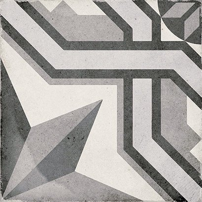 Art Nouveau Cinema Grey 20cm x 20cm