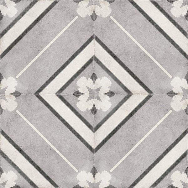 Art Nouveau Inspire Grey 20cm x 20cm