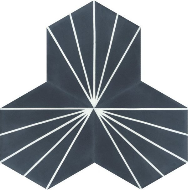 Moroccan Encaustic Cement Hexagonal Artic 2