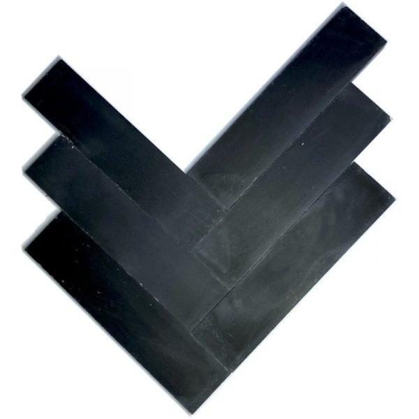 Moroccan Encaustic Cement Black 5cm x 20cm