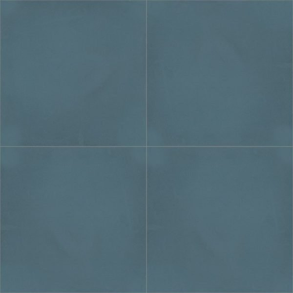 Moroccan Encaustic Cement Single Colour Dark Blue