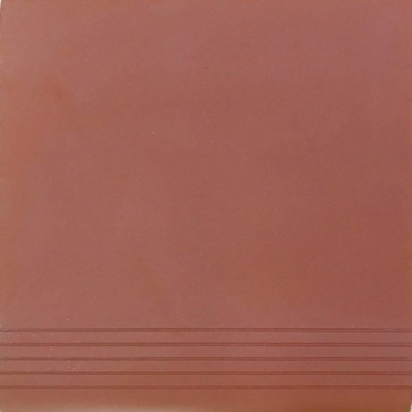 Daniel Platt Type Quarry Step Tile Red 30cm x 30cm x 1.2cm