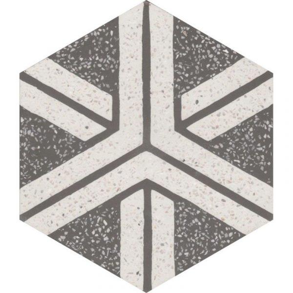 Moroccan Encaustic Cement Hexagonal Terrazzo 14b