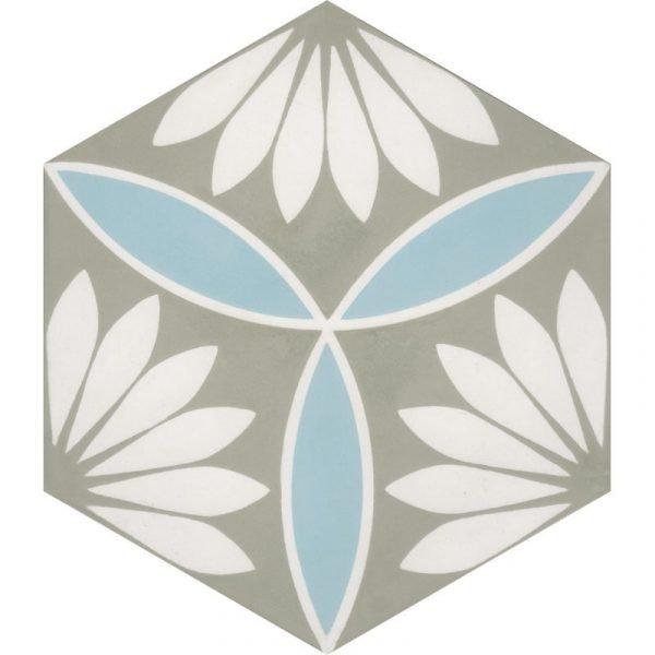 Moroccan Encaustic Cement Hexagonal Petal 02