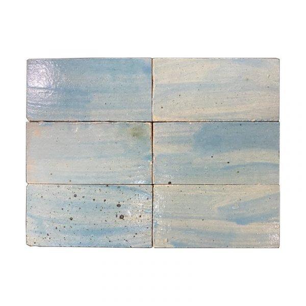 Zellige Blue Sky 15cm x 7.5cm