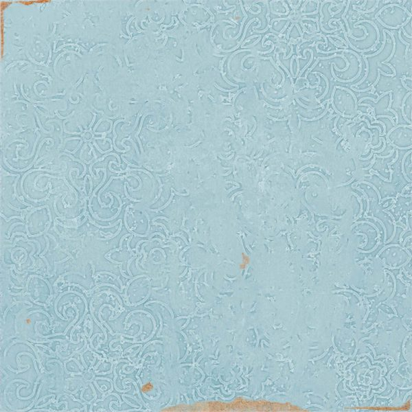 Fabricated Zellige Aqua Decor 12.5cm x 12.5cm