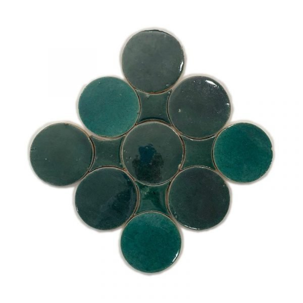 Zellige Circle Jade 13.5cm