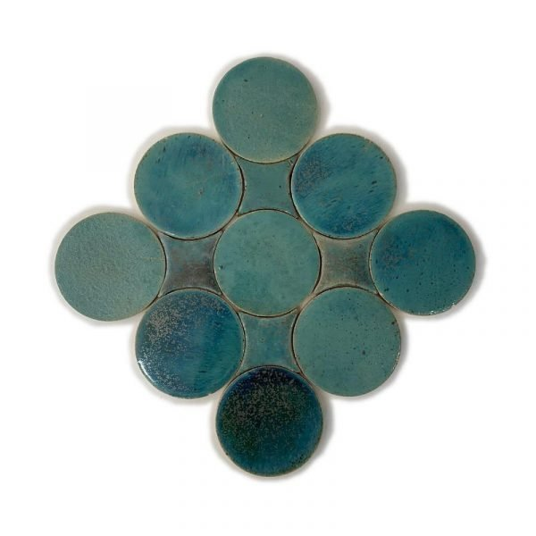 Zellige Circle Turquoise 13.5cm