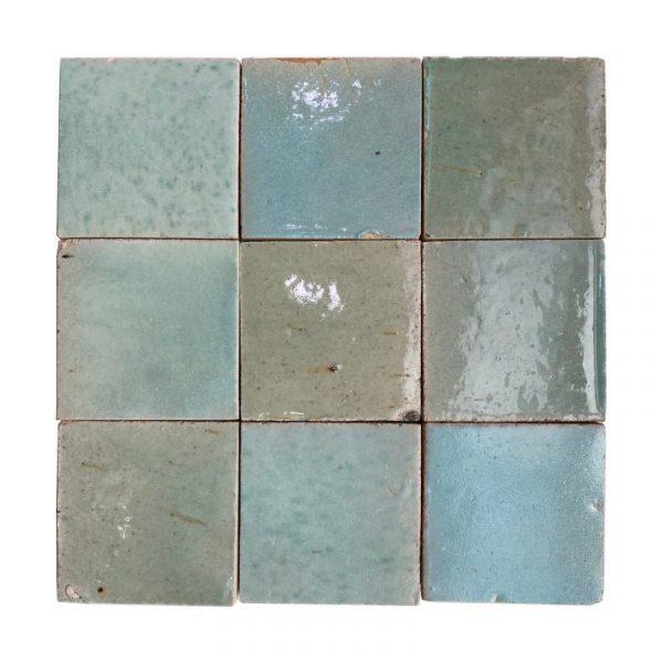 Zellige Light Green 10cm x 10cm