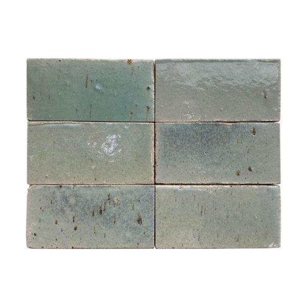 Zellige Light Green 15cm x 7.5cm