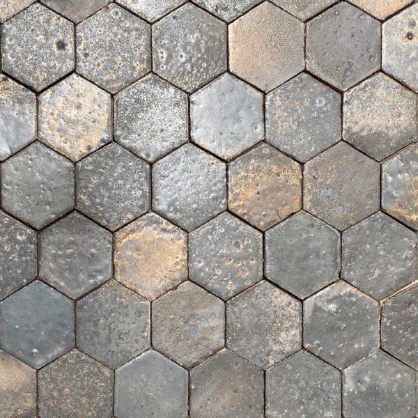 Zellige Hexagonal Matt Copper 11cm x 12.7cm
